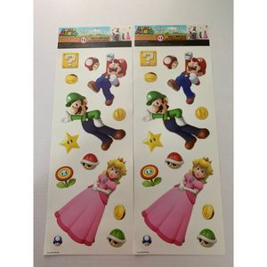 super mario wall decal stickers luigi peach 2x